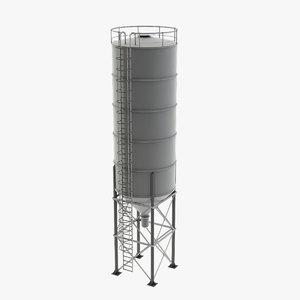 3D cement silo model