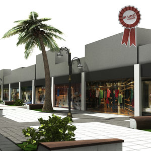 3D tree street shop