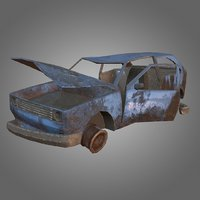 Hatchback Wreck PBR Game-Ready