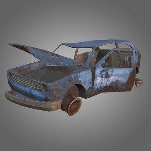 hatchback wreck - pbr 3D model