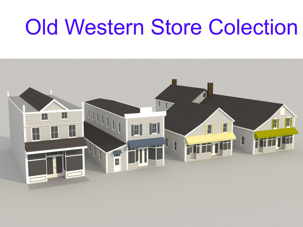 old western store 3D model