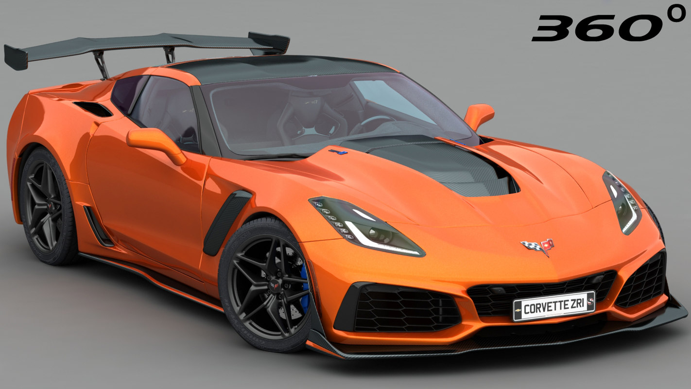 Chevrolet Corvette Zr1 C7 3d Model Turbosquid 1240637
