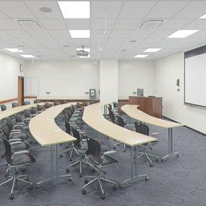 class room realistic 3D