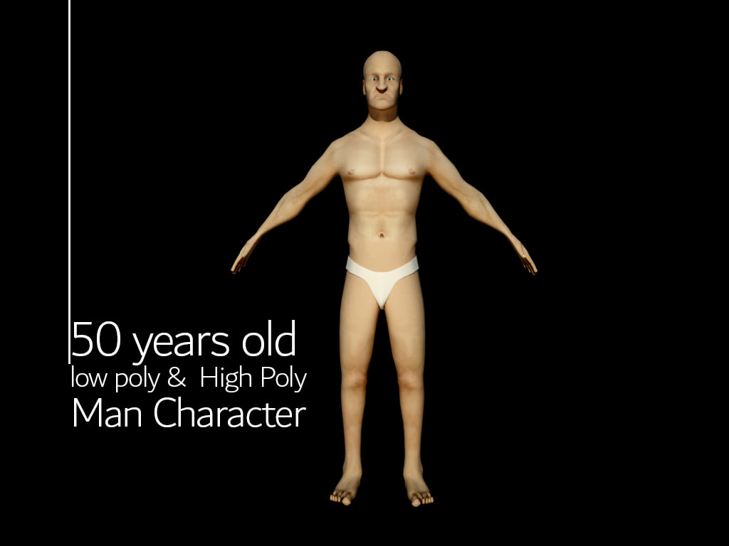 fifty-year-old 3D model