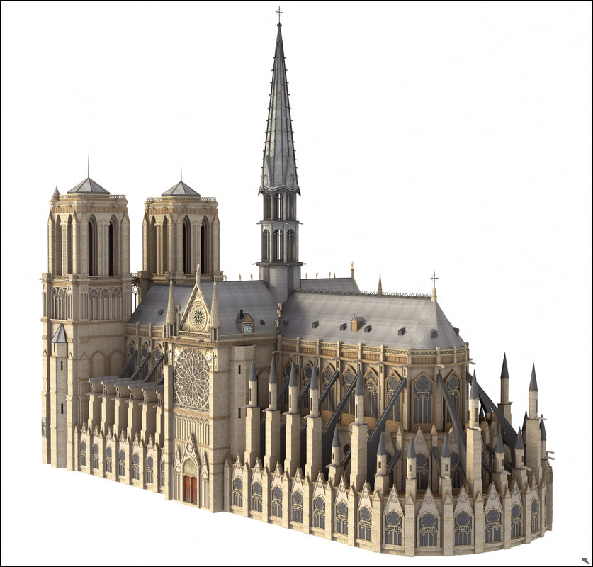 Notre Dame Cathedral in Paris 3d model