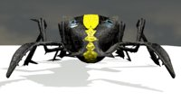 electronic insect robot black/yellow