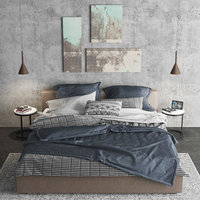 bed meridiani louis 3D