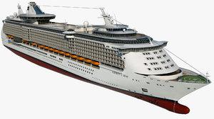 cruise liberty seas ship 3D model