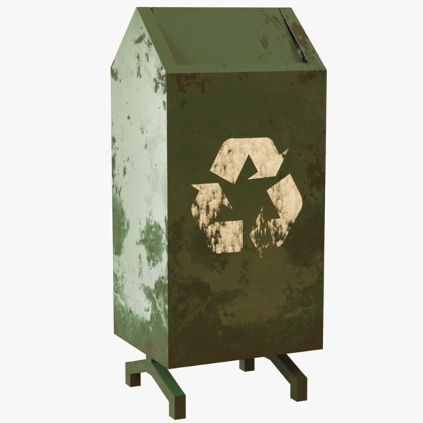 3D model rubbish bin