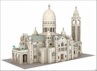 sacre coeur paris 3D model