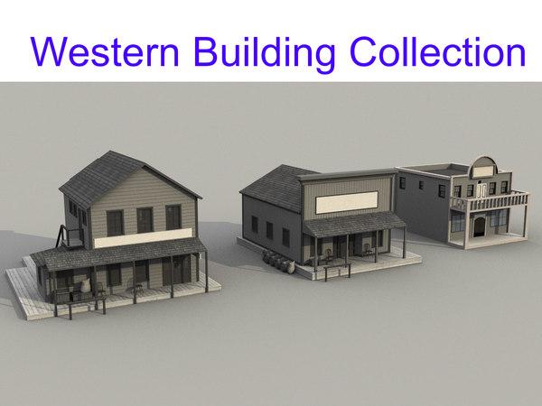 3D model western building