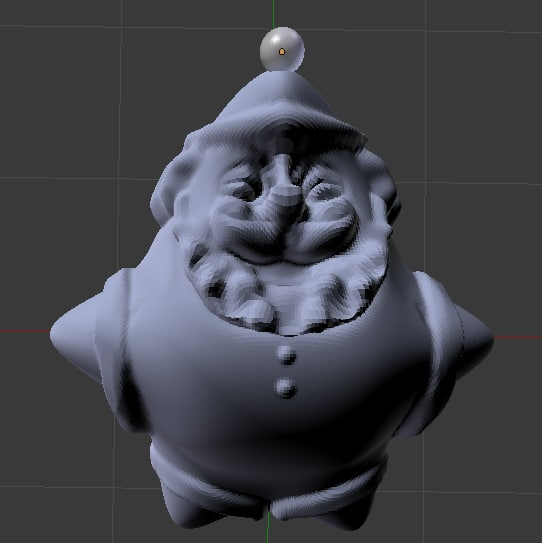 3D santa xmas papa model