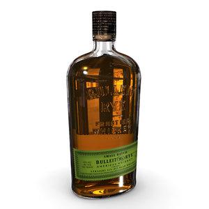 bulleit rye 75cl bottle 3D model