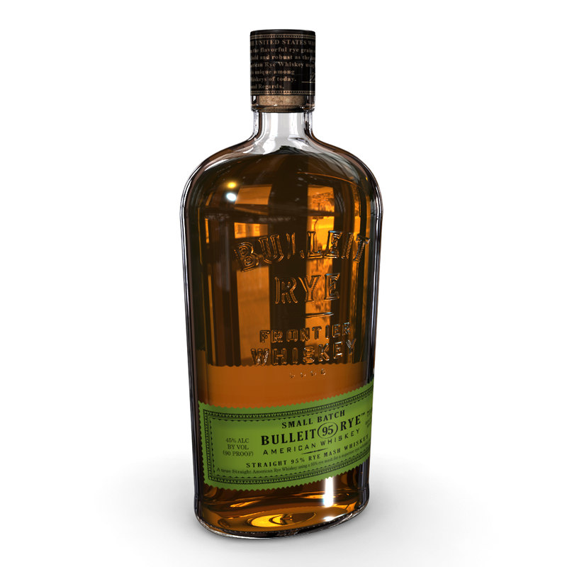 bulleit rye 75cl bottle 3D model