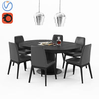 3D table boconcept granada 130cm