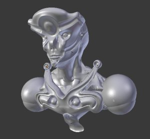 humanoide monster robot 3D model