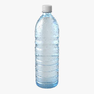 water bottle covered condensation 3D model