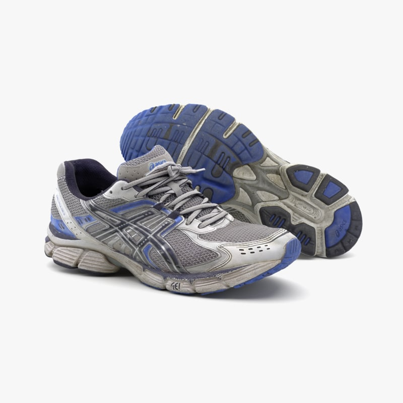 photoscaned running shoes used 3D model