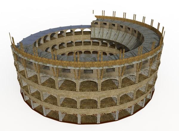 3D model colosseum