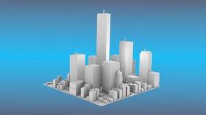 3D city center