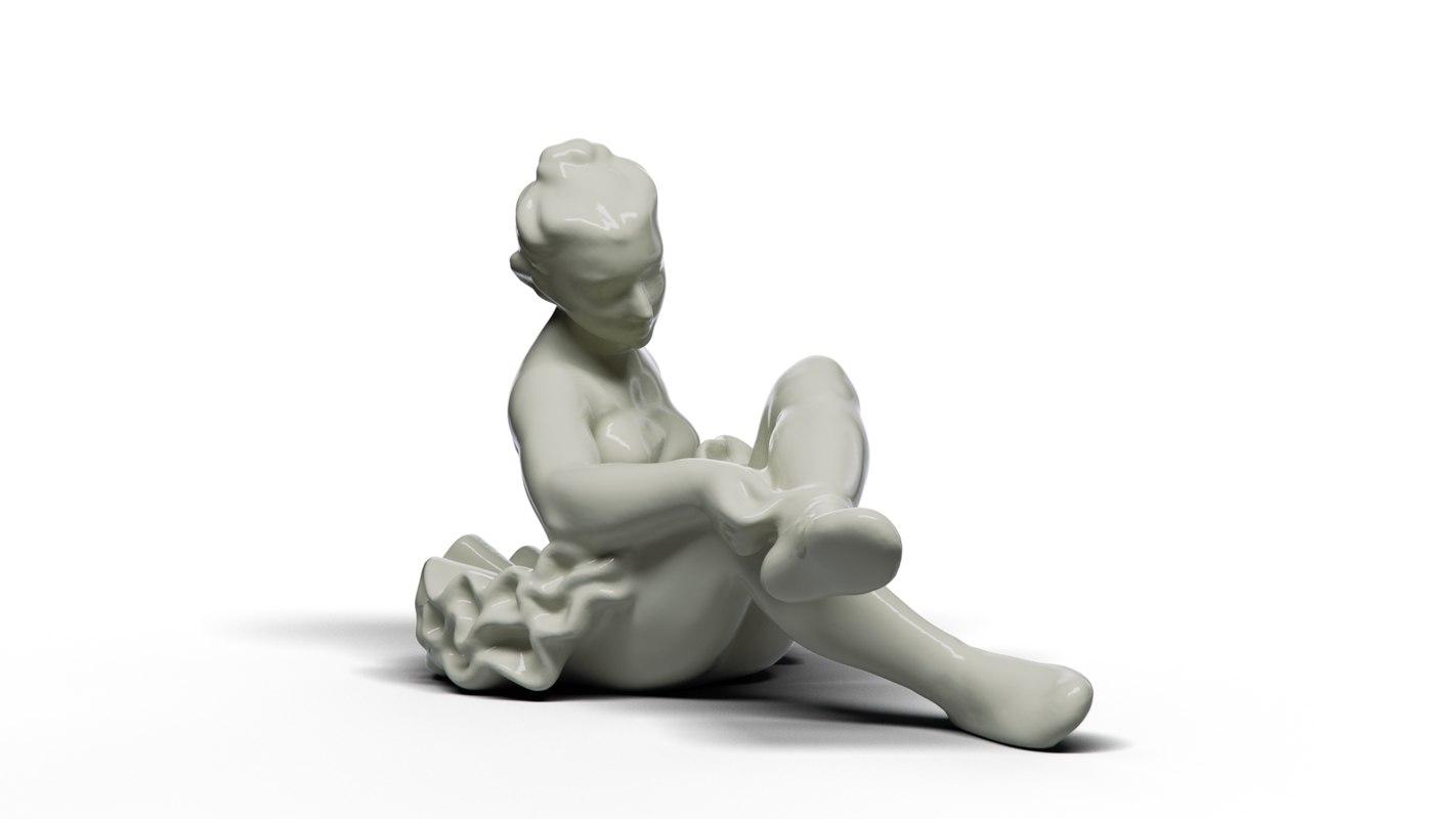 3D model danseuse ceramics