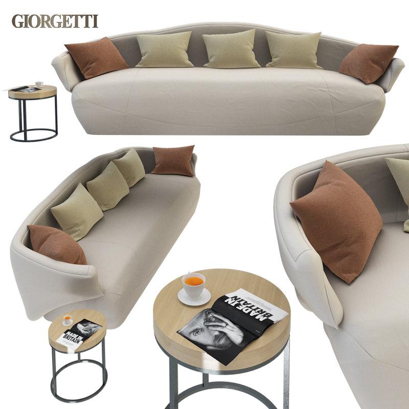 sofa giorgetti solemyidae 3D