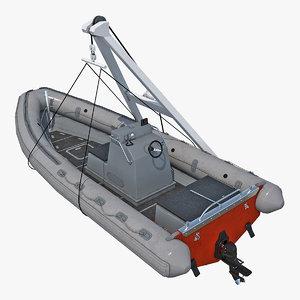 rescue boat crane model