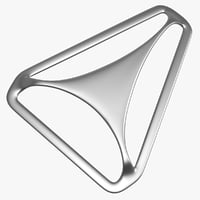 triangle slide adjuster buckle 3D model