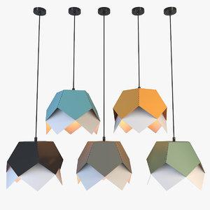 nordic metal lamp lights 3D model