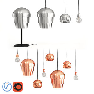 3D lamps boconcept pine cone model