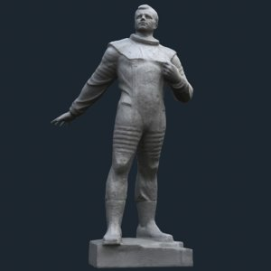 3D sculpture gagarin model