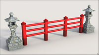 3D asian fence asia