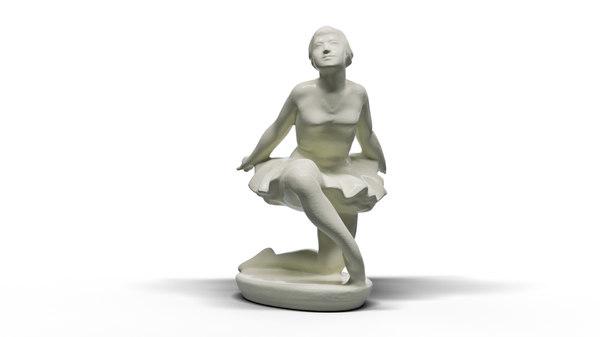 3D model ballerina ceramics