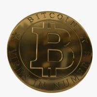 3D bitcoin coin