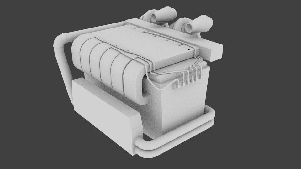 blender engine turbos 3D model
