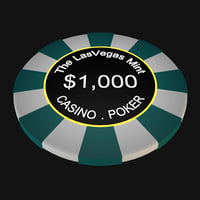 3D casino poker chips