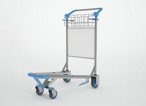3D airport cart model