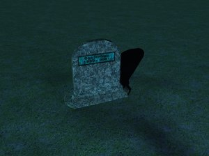 tombstone stone model