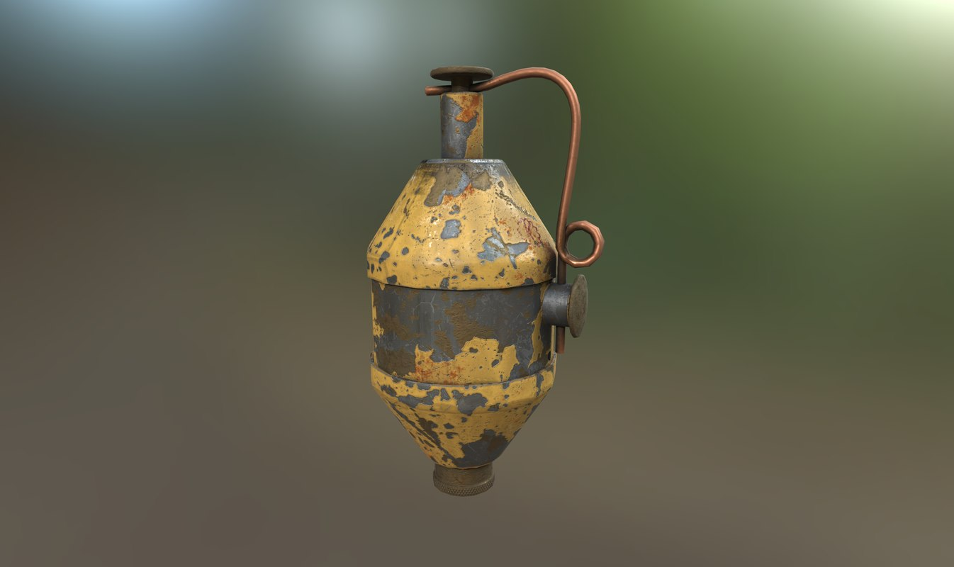 ww2 343d grenade midpoly 3D model