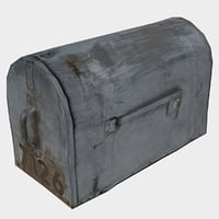3D old mailbox model