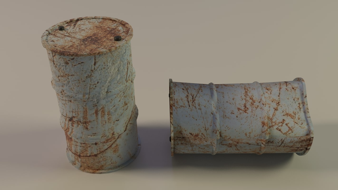 old barrel 3D