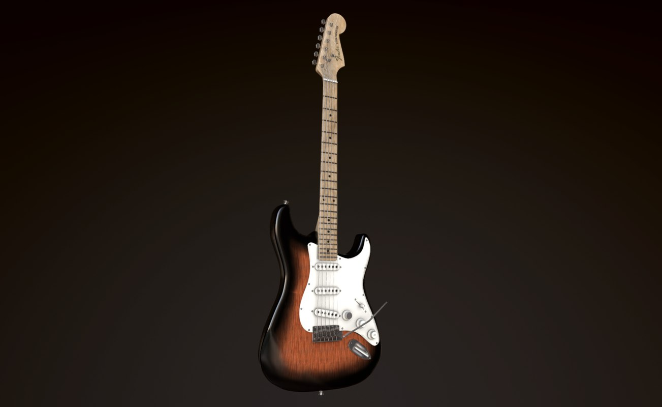 guitar fender stratocaster 3D model