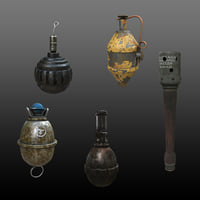 Grenades Collection Germany Game-Ready Midpoly PBR