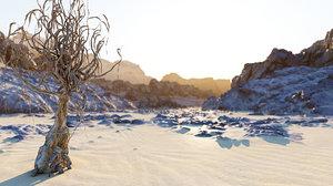 3D desert canyon hd model