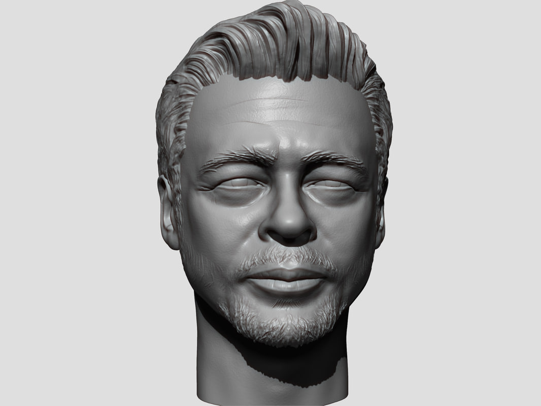 3D model portrait sculpture benicio del