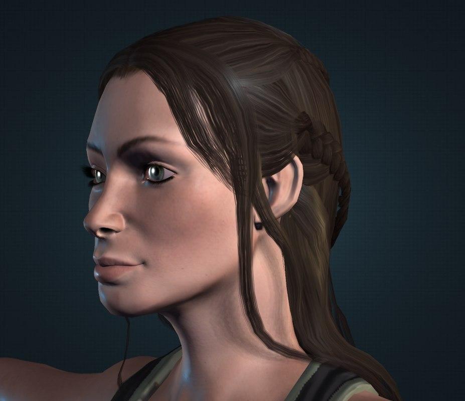 woman girl 3D model