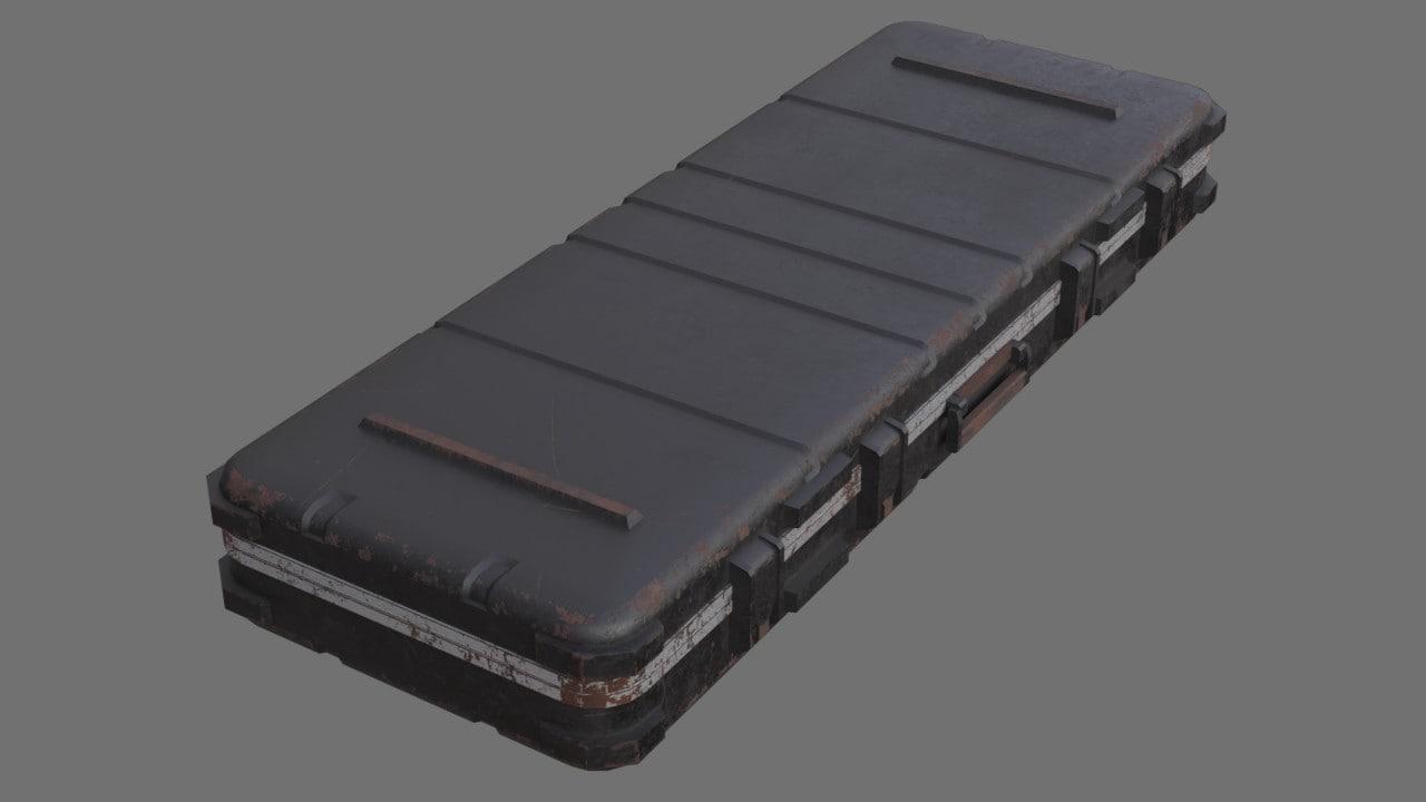 3D military case 2c model
