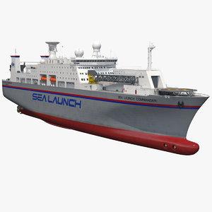 3D command ship sea launch