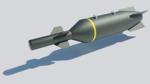 gbu-27 paveway iii bomb 3D model