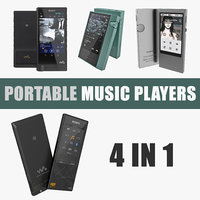 Portable Music Players 3D Models Collection